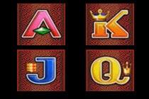 สัญลักษณ์ตัวอักษร 5 Dragons Slot